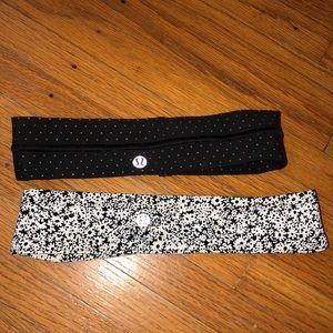Two never worn lulu headbands